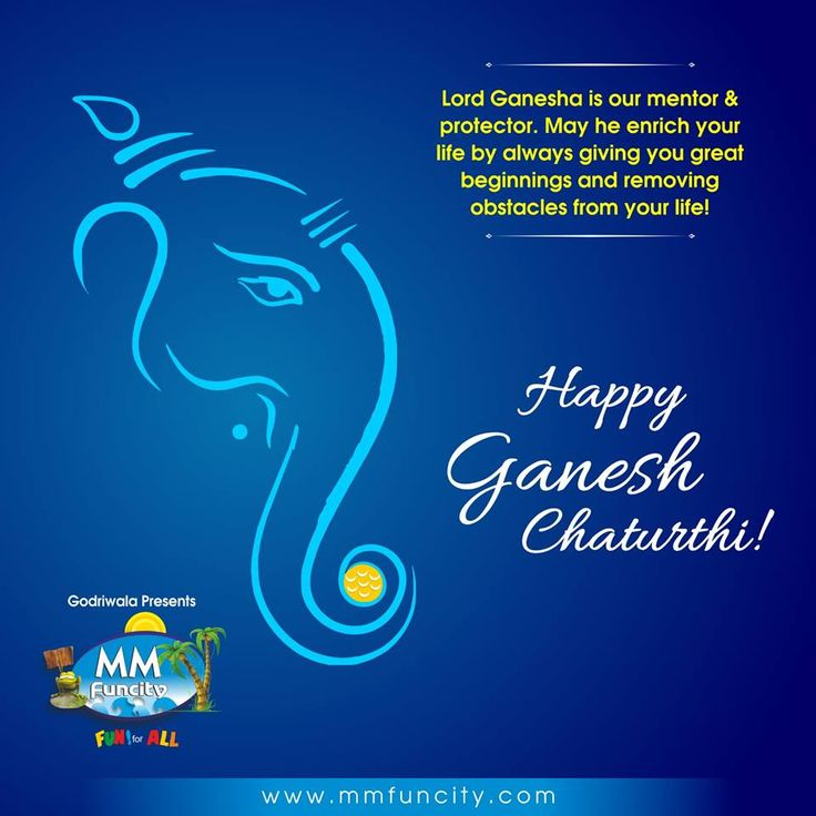 #GaneshChaturthi Lord Ganesha is our mentor and protector. May he enrich your life by always giving you great beginnings and removing obstacles from your life !! Happy Ganesh Chaturthi !!