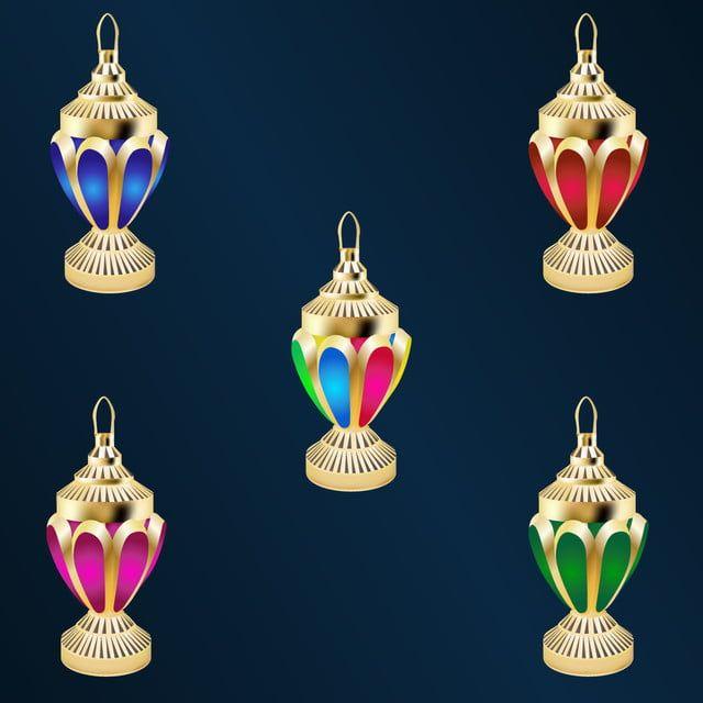 واقعية ناقلات لامعة ذهبية فوانيس رمضان رمضان مبارك ناقلات Png والمتجهات للتحميل مجانا Ramadan Lantern New Art Ramadan