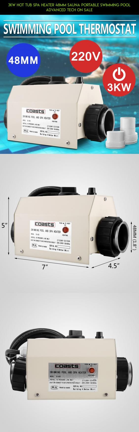 3KW HOT TUB SPA HEATER 48MM SAUNA PORTABLE SWIMMING POOL ADVANCED TECH ON SALE #tubs #camera #fpv #sale #kit #hot #parts #plans #technology #shopping #products #gadgets #on #tech #racing #drone
