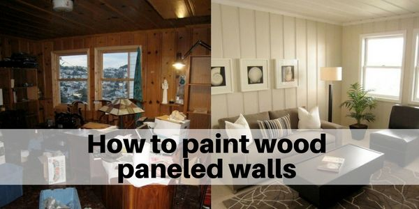 How To Paint Wood Paneled Walls And Shiplap Paneling
