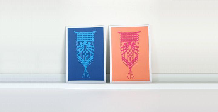 macrame owl print