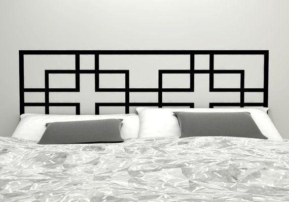Geometric Headboard Decal  - Vinyl wall sticker decal - Asian Influence Geometric Pattern
