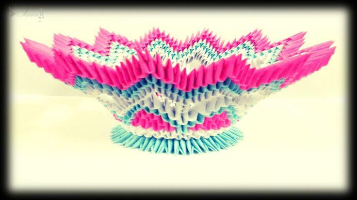 3d Modular Origami Patterns Vase