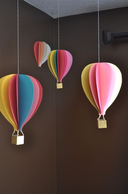 I Am Momma - Hear Me Roar: Hot Air Balloon Mobile and a GIVEAWAY a faire pour décoration de la future chambre d'amy ;)