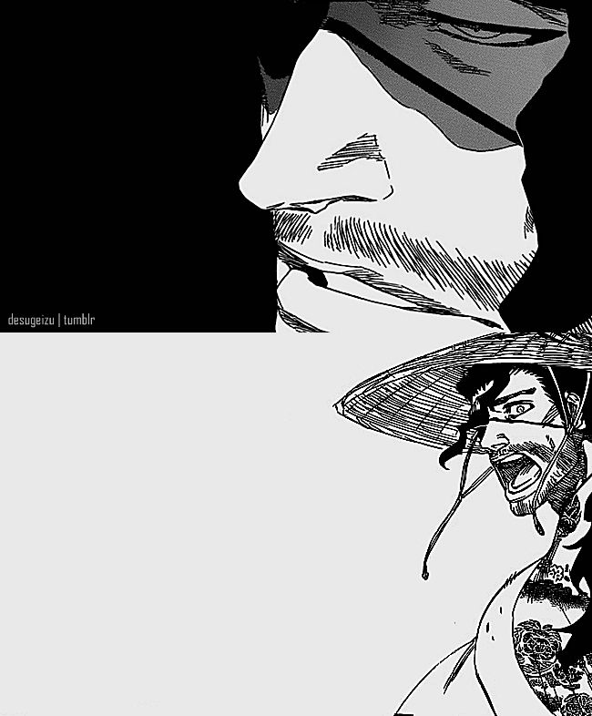 Bleach Challenge day 5 favorite charcter from the 13 court guard squad: shunsui kyoraku he's a badass lazy bum