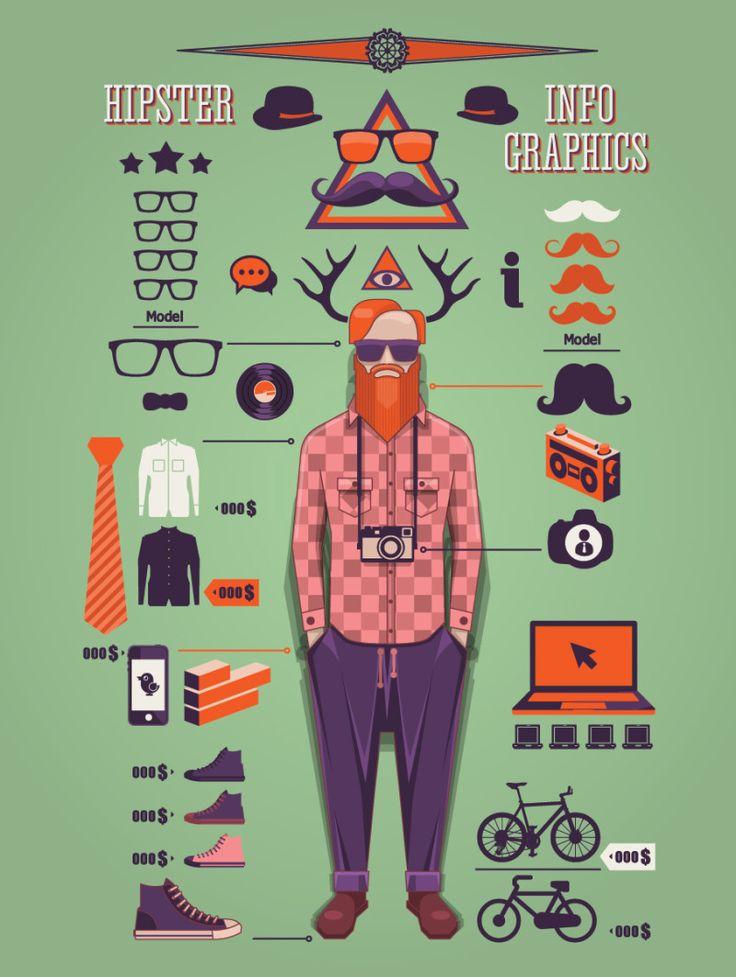 Hipster info-graph.