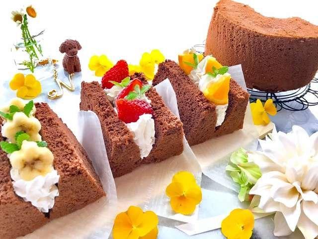 シフォン ケーキ チョコ