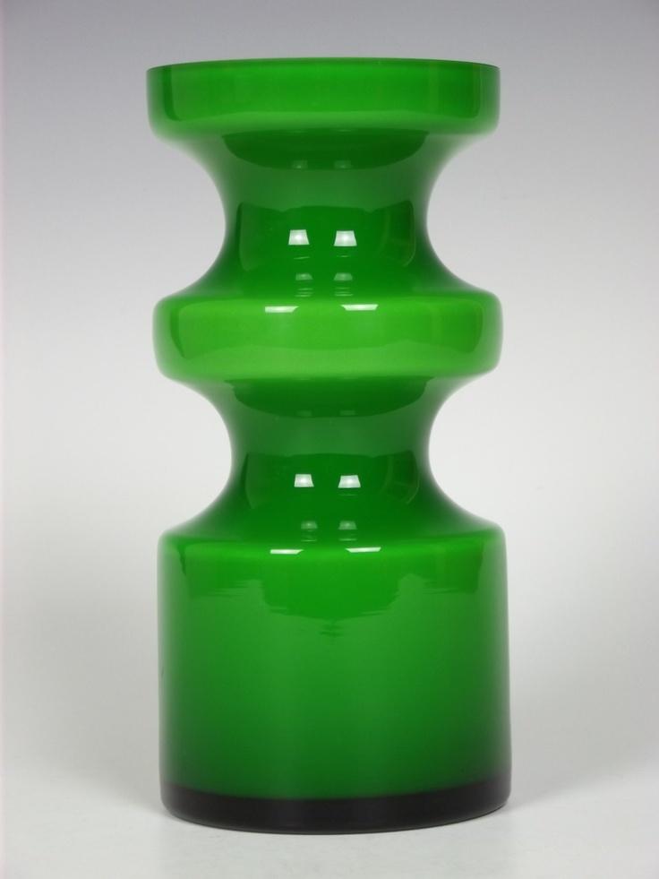 Alsterfors green glass vase by Per-Olof Ström. £150.00, via Etsy.