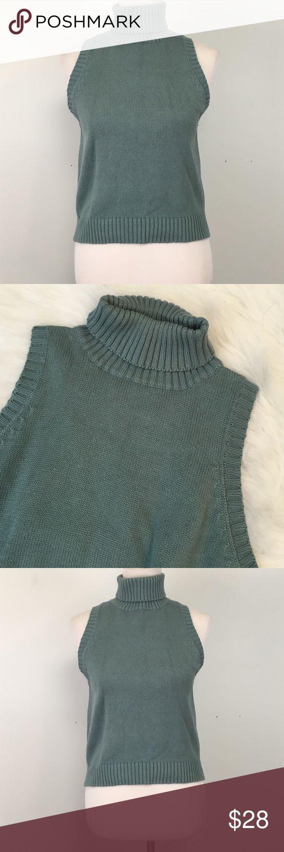 Turtle Neck Cropped Sleeveless Sweater Turtleneck Sleeveless Sweater Tarazzia Design Studio Sweaters Cowl & Turtlenecks