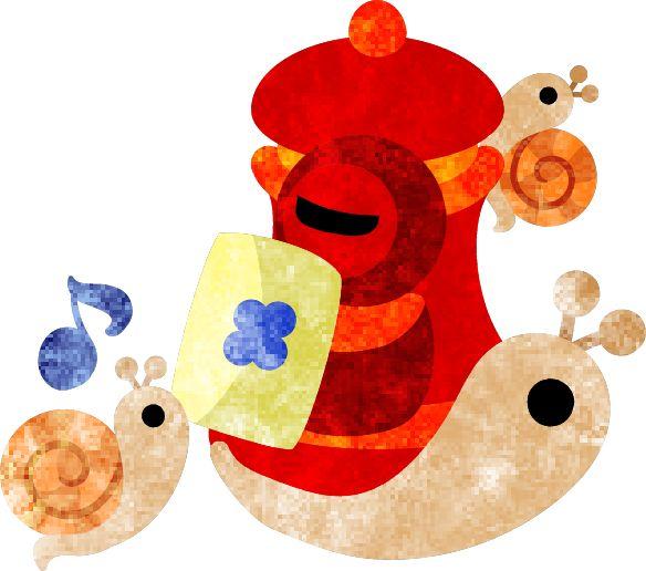 フリーのイラスト素材可愛いかたつむりと郵便ポスト  Free Illustration Pretty snails and a mail post   http://ift.tt/1XegX7I