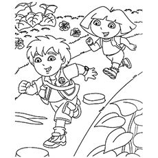 29 best winnie the pooh coloring page images on pinterest for Dora and diego color pages