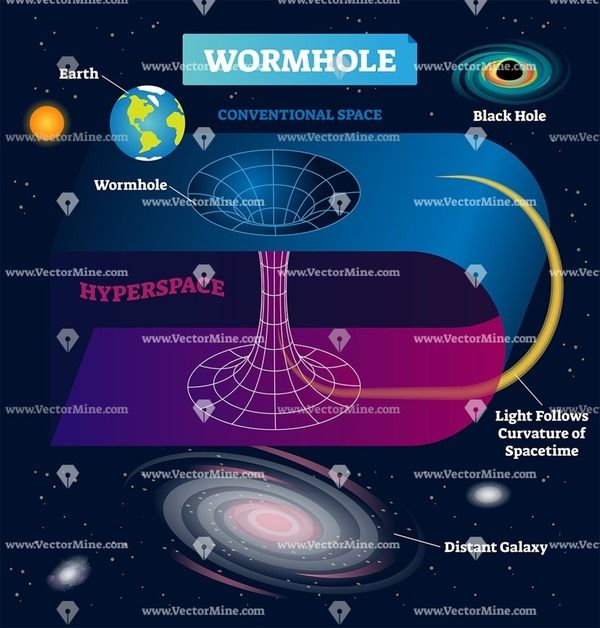 Wormhole Vector Illustration Diagram Astronomy Facts Cool Science Facts Space And Astronomy