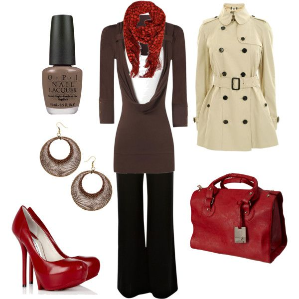 Brown and Red Office Attire - Polyvore