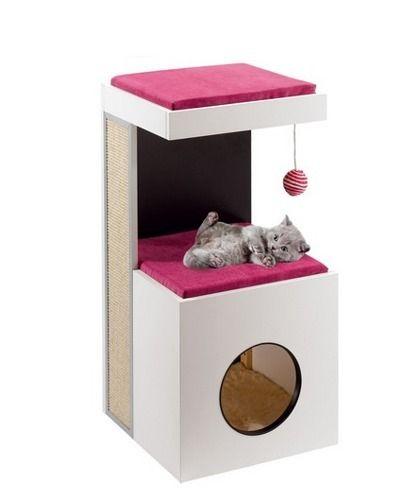 Ferplast Diablo- designerski drapak dla kota, mebel wykonany z litego drewna