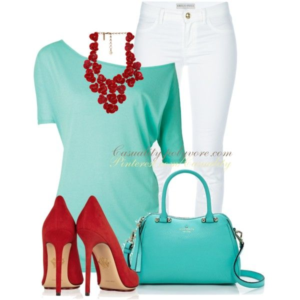 """Red & Turquoise Bold"" by casuality on Polyvore"