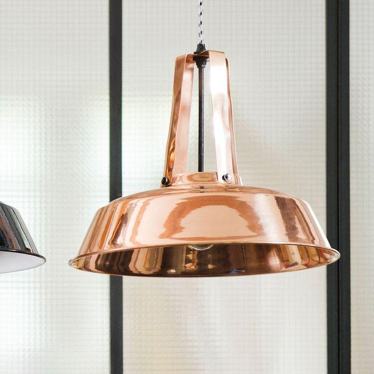 HK LIVING - Deckenlampe Workshop, Kupfer, Ø 45cm