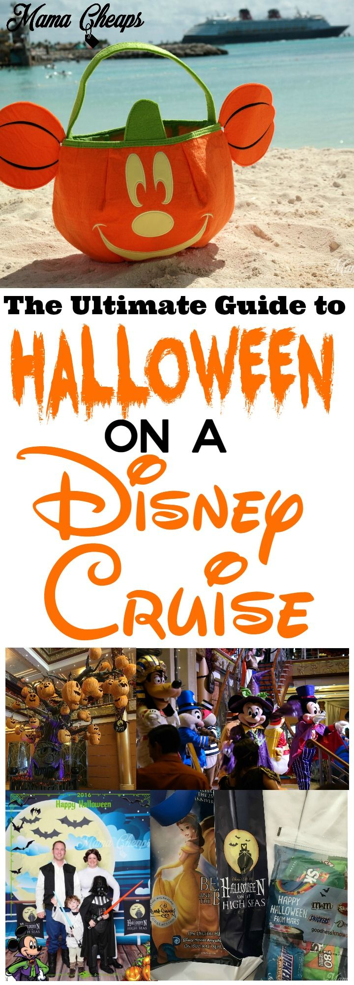 The Ultimate Guide to Halloween on a Disney Cruise!!  Here's everything you need to know about a Halloween on the High Seas sailing on Disney Cruise Lines!