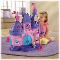 Little People Disney Princess Songs Palace by Fisher Price ---> can't wait to receive this toy in my party pack...Kyra will love the Little People princesses and the interactive features!