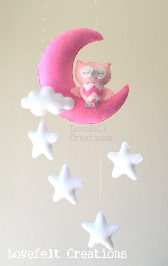 Sale READY TO SHIP Baby mobile Owl mobile by lovefeltmobiles