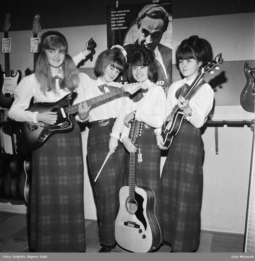 Popband. Fire jenter fra Hønefoss.