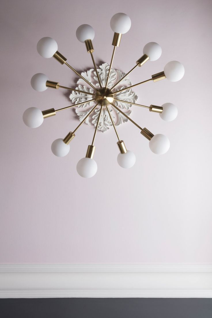 Dexter sputnik light from Marks & Spencer with Middleton Pink ceiling