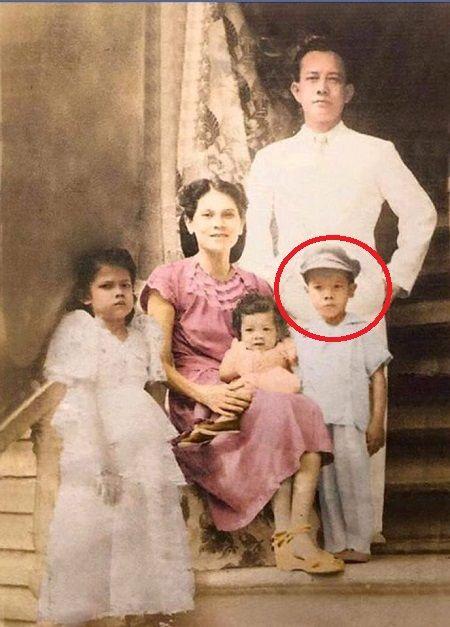 Colorized photo of young Rodrigo Duterte