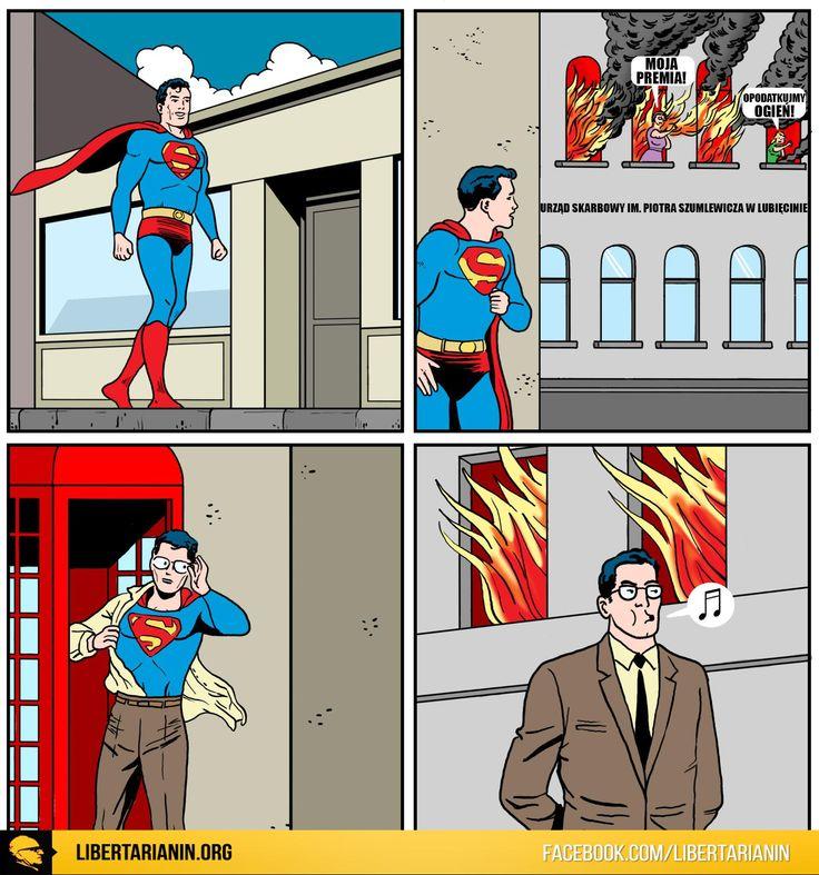 #zus #szumlewicz #fiskus #urzad #skarbowy #superman #super #bohater #pozar #ogien #lubiecin