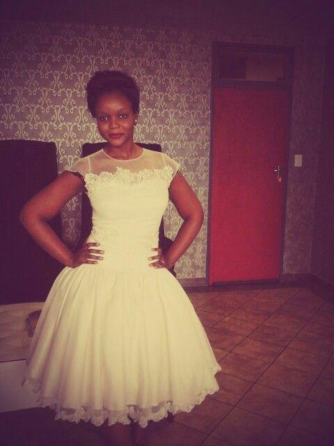 Lovely white dress, # NomvulaThabethe