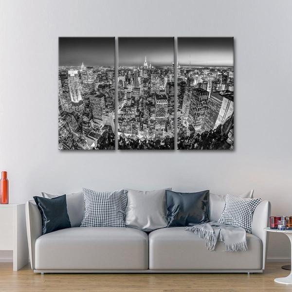 Black And White New York Multi Panel Canvas Wall Art Wall Canvas Nyc Wall Art City Wall Art