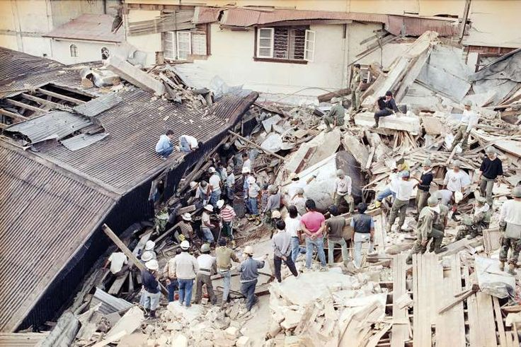 July 16,  1990: PHILIPPINES EARTHQUAKE CLAIMS MORE THAN 1,000 LIVES  -   More than 1,000 people are killed after a powerful 7.7-magnitude earthquake strikes Luzon Island in the Philippines. The massive tremor wreaked havoc across a sizeable portion of Luzon, the country's largest island, with Baguio City suffering the most devastating effects.