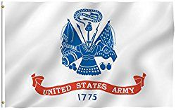 ANLEY [Fly Breeze] 3×5 Foot US Army Flag – Vivid Color and UV Fade Resistant – Canvas Header and Double Stitched – United States Military Flags Polyester with Brass Grommets
