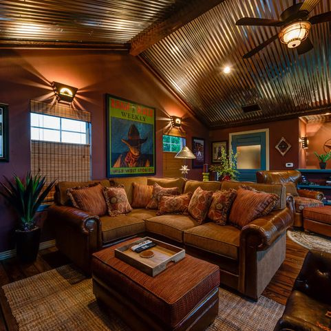 Bee Cave TX Remodel - eclectic - Family Room - Austin - Agave Custom Homes