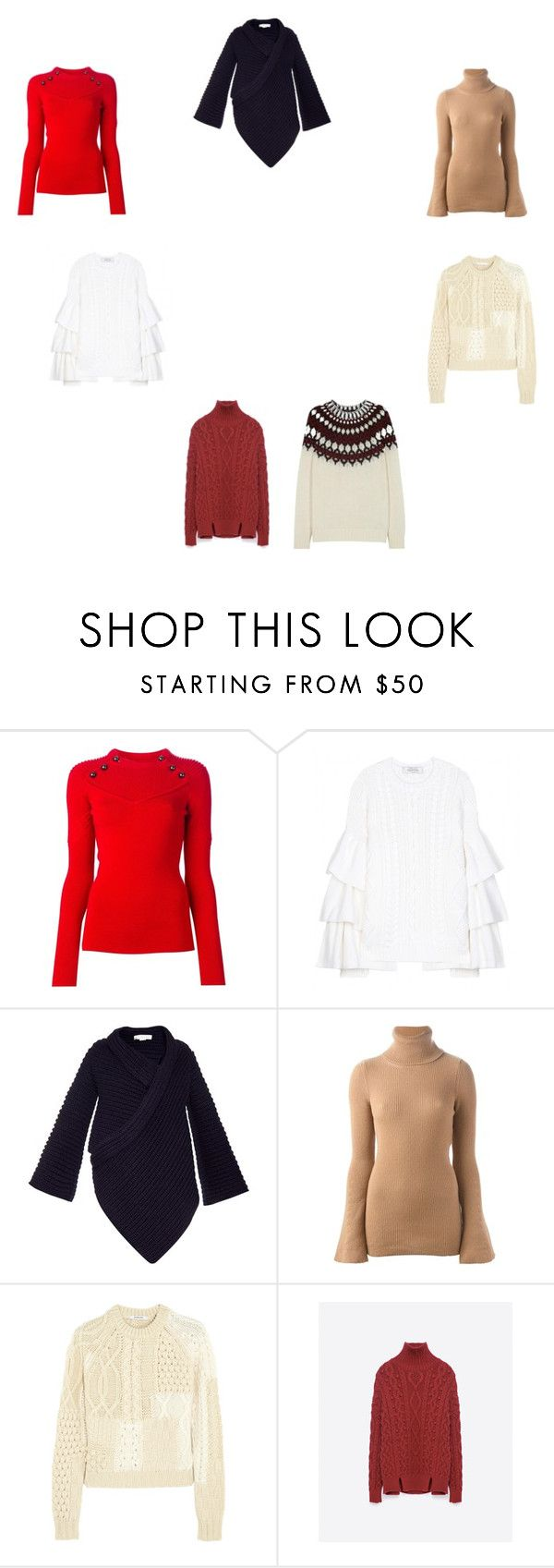"""""""knit"""" by pollianidotcom on Polyvore featuring Isabel Marant, Valentino, STELLA McCARTNEY, Carven, Zara and Gucci"""