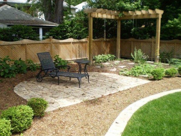 Backyard Landscape Design Ideas. Corner grape arbor