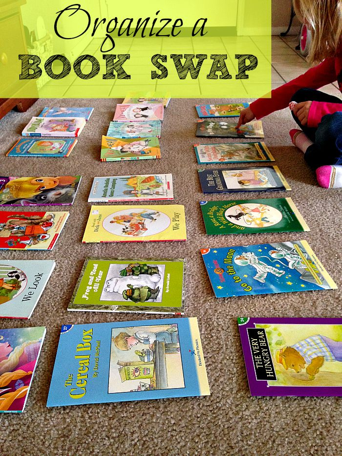 Organize a Book Swap Party. It is fun and Mom saves a lot of $$.