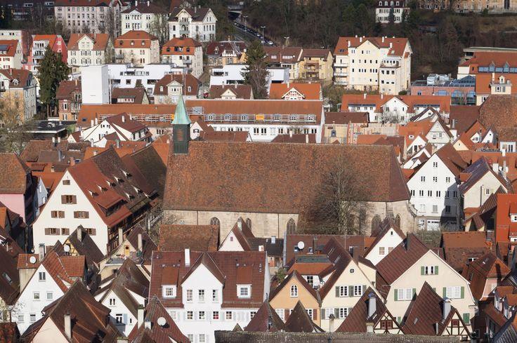 Jakobuskirche Tübingen Panorama Vom Schlossgarten aus fotografiert