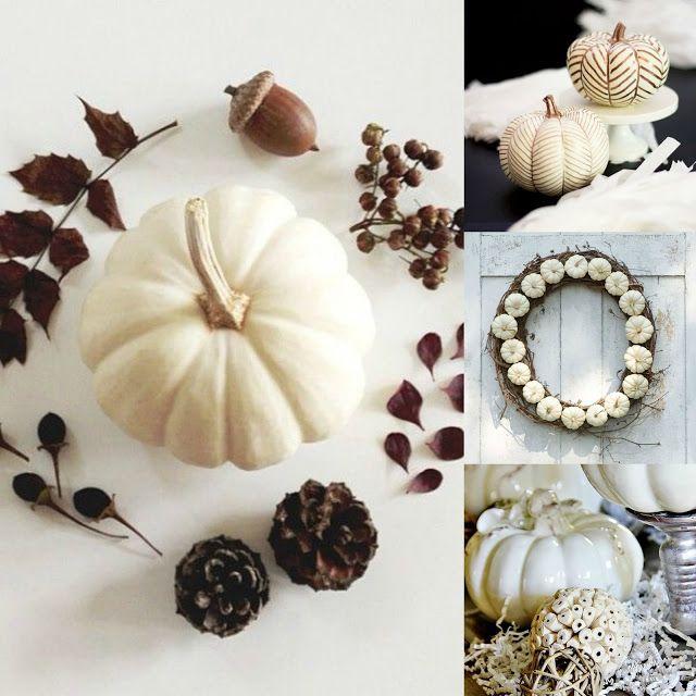 36 nápadov pre biele jesenné dekorácie | Living Styles