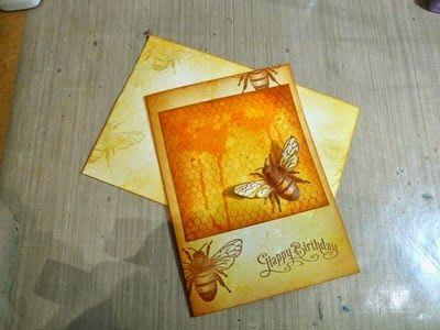 Honeybee Birthday Card with Envelope (2014)