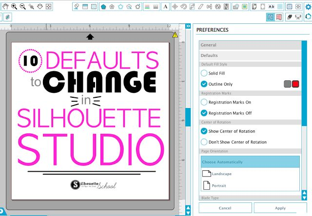 We all know Silhouette Studio is a power software program - but sometimes it can be a little quirky. Some of the things that leave me scratching my head are the manufacture defaults in Silhouette Stud