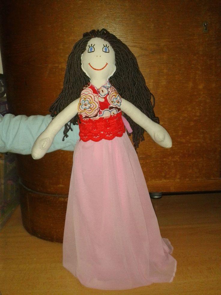 diy sewed happy doll