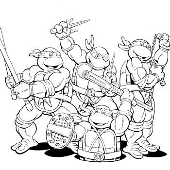 Funny Ninja Turtles Coloring Pages | 80s Cartoons ...