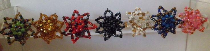 Bague tissée perles fleurs femme multicolore-rocailles-Bali-neuve-écrin
