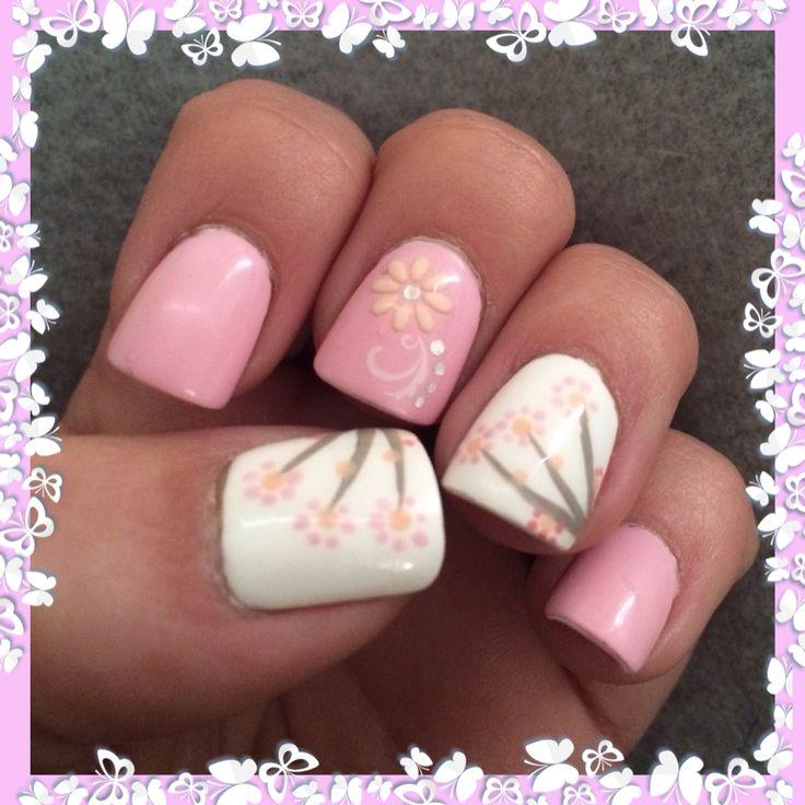 Cherry blossom nail art for spring season