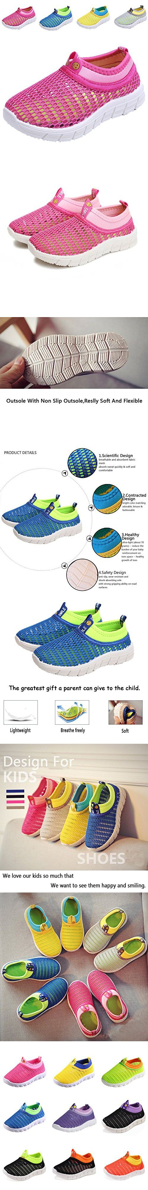 CIOR Kids Breathable Water Shoes Slip-on Sneakers For Running, Pool, Beach, Toddler / Little Kid / Big Kid,sk205pink,29