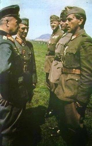 Walter Model visiting the Supreme Command of the Hungarian 1st Army. -