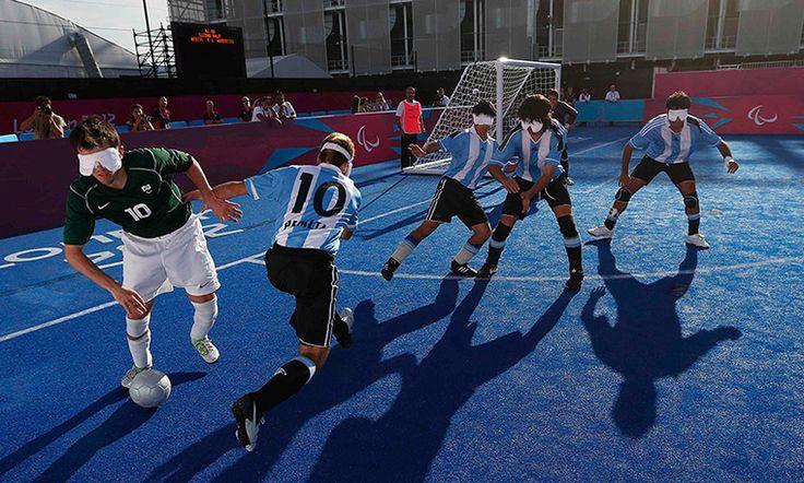 Brazil v Argentina football at 2012 Paralympic Games #respect