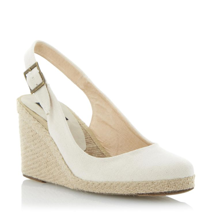 DUNE IMPERIA D, Neutral Espadrille Wedge | Dune Shoes Online