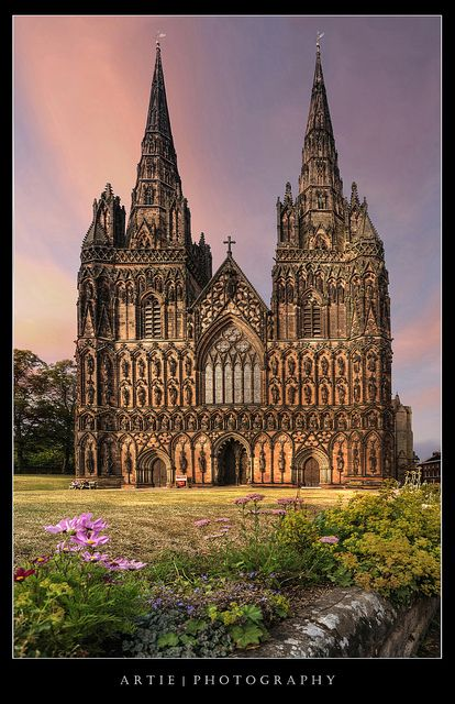 Lichfield Cathedral, Staffordshire, England