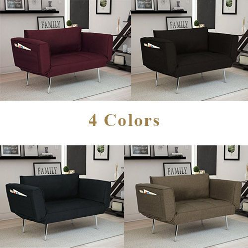 Convertible Futon Loveseat Sofa Bed Couch Modern Furniture Living Room Brand New