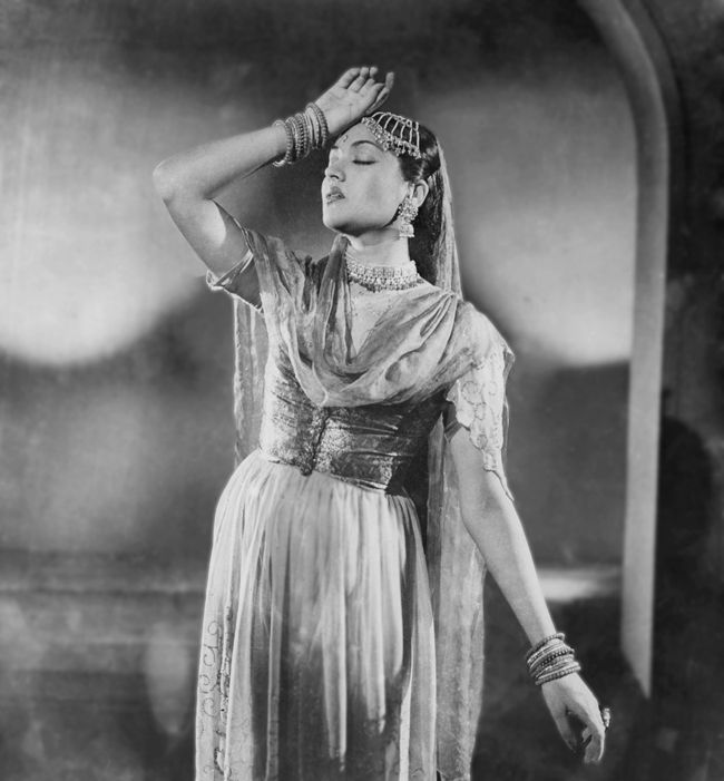Lobby card from the movie 'Pehli Jhalak', 1955.